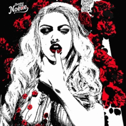 wild roses pop art bwr Christina Noélle web